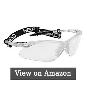 Head Icon Pro Racquetball Eyewear, Clear/Black
